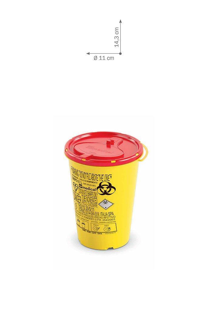Контейнер для сбора иголок и медицинских отходов 0,7 л