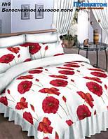 Ткань постельная поликоттон -  белоснежное маковое поле.
