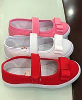 Детские мокасины текстильные для девочек оптом Размеры 25-30