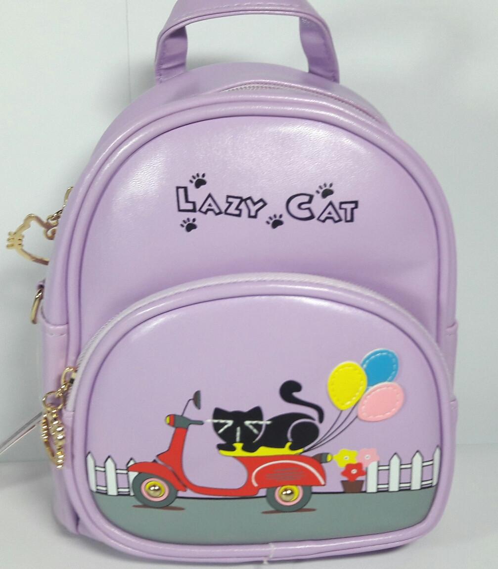 """Рюкзак- сумка детский """"Lazy Cat"""" для девочки"""