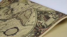 Большая, винтажная карта мира под старину. Карта на стену, фото 2