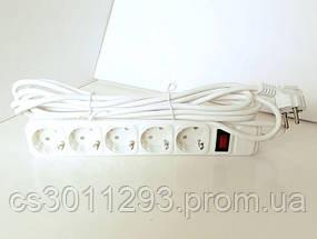 Удлинитель - Cетевой Фильтр на 5 розеток 5 метров кабель, фото 2