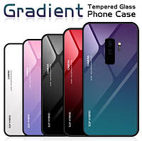 TPU+Glass чехол градиент для Samsung Galaxy S9 Plus G965F 2018 (Разные цвета)