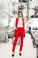 Женский деловой костюм Красный