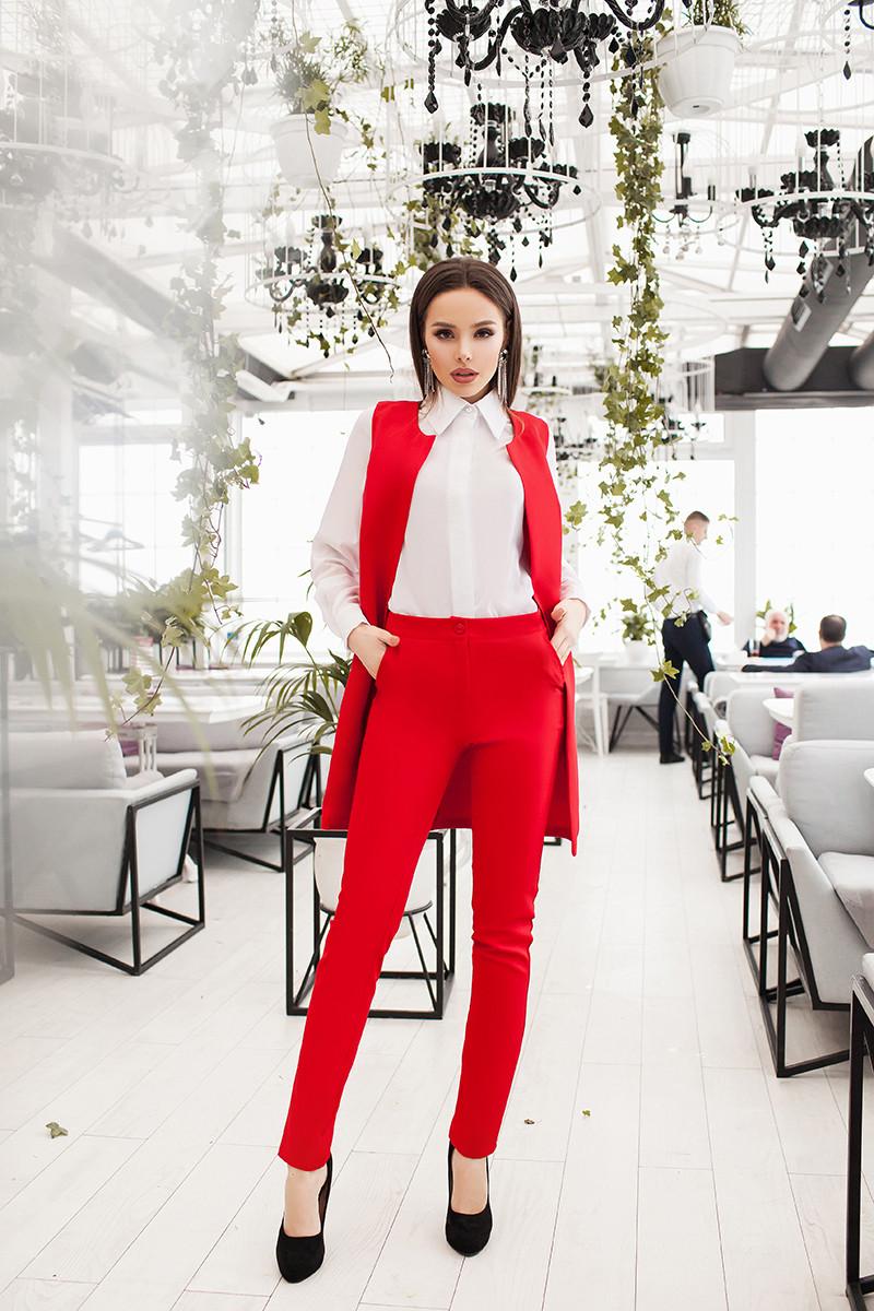 c5fb300a0398 Купить Женский деловой костюм Красный в Одессе от компании
