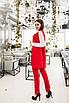Женский деловой костюм Красный, фото 2