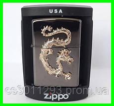 Зажигалка ZIPPO Бензиновая (Gold Dragon), фото 2