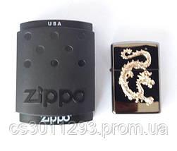 Зажигалка ZIPPO Бензиновая (Gold Dragon), фото 3