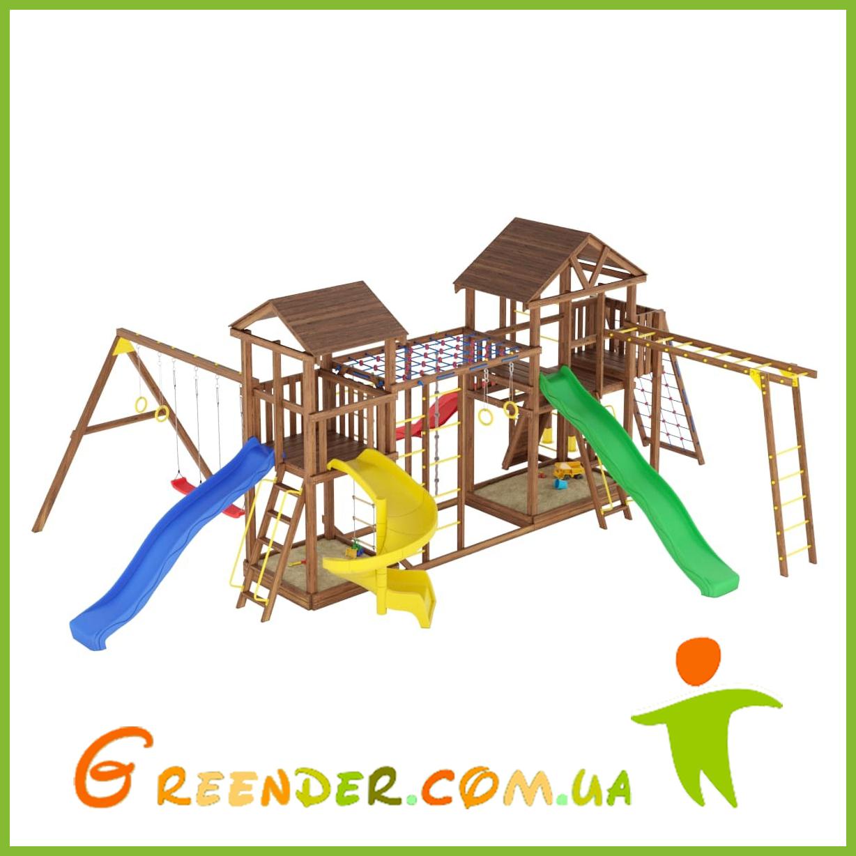 Деревянный детский спортивно-развлекательный комплекс Лидер 23