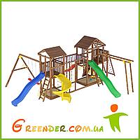 Деревянный детский спортивно-развлекательный комплекс Лидер 23, фото 1