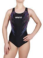 Купальник спортивный женский для плавания  Arena 8689, черный