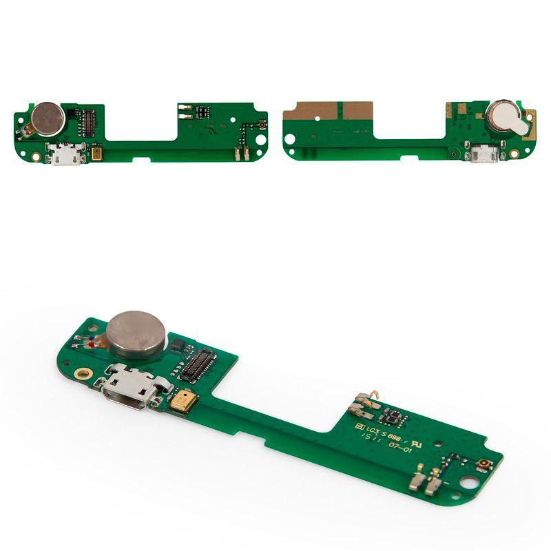 Плата нижняя (плата зарядки) Lenovo S8 S898T | S898T Plus, с разъемом зарядки, с микрофоном и виброзвонком
