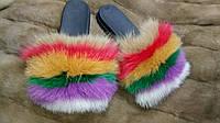 Обувь с мехом песца под заказ