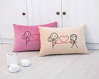 Подушка для влюбленных «Слушай сердце»  флок