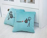 Набор подушек для влюбленных «Сердце в ловушке»  флок