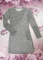 Платье для девочки КОМБИНАЦИЯ р. 134-152 серый , фото 1
