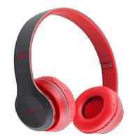 Беспроводные наушники Bluetooth / microSD MDR P47 красный, фото 1