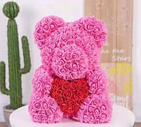 Мишка из 3D роз подарочный Медведь «Teddy Bear»  все цвета + Подарочная упаковка