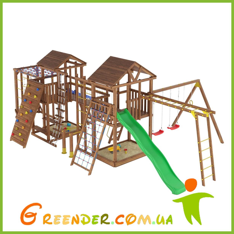 Деревянный детский спортивно-развлекательный комплекс Leaf 12