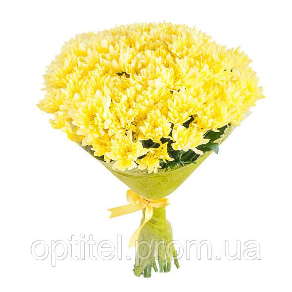 "Букет ""15 желтых хризантем"""