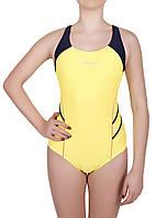 Купальник спортивный подростковый для плавания Rivage line 2127, желтый