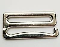 Крючок для бретелей 25 мм металл никель (50 шт/уп)