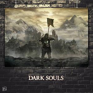 Постер Dark Souls, Тёмные души. Размер 60x43см (A2). Глянцевая бумага