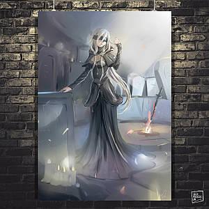 Постер Fire Keeper, Dark Souls, Тёмные души. Размер 60x43см (A2). Глянцевая бумага