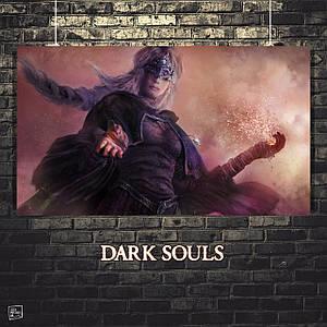 Постер Fire Keeper, Dark Souls, Тёмные души. Размер 60x34см (A2). Глянцевая бумага