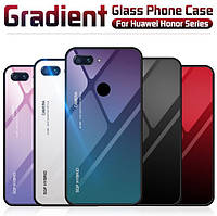 TPU+Glass чехол градиент для Huawei Honor 9 Lite (Разные цвета)