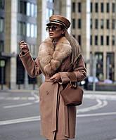 Пальто  с мехом украинского производства