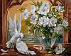 Раскраски для взрослых 40×50 см. Голуби и розы