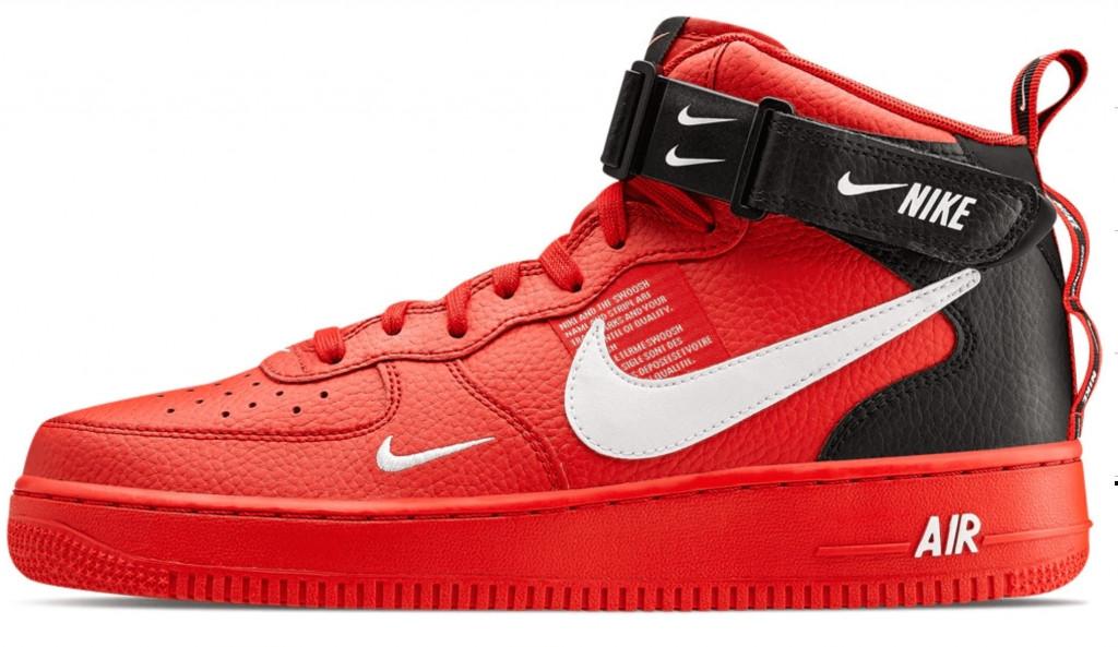 fe6d793f Мужские кроссовки Nike Air Force 1 Utility Red (найк аир форс 1, красные)