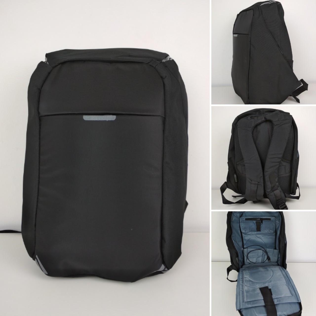 7a464393c7fa Текстильный рюкзак антивор с USB портом для зарядки телефона 43*30*15 см