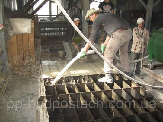 Изготовление пеноблока в промышленных условиях.