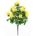 Роза бутон, 52см (10 шт. в уп), фото 5