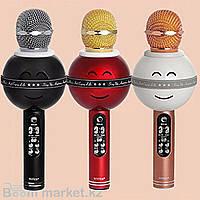 Микрофон со встр.колонкой для караоке (microSD, Bluetooth) WS-878