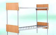 Кровать двухъярусная металическая 70/190  с ДСП
