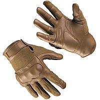 Шкіряні тактичні рукавички з кевларовими вставкам dark coyote