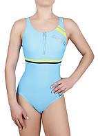 Купальник спортивный женский для плавания с молнией Rivage Line 2037, голубой