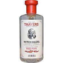 """Тоник без спирта THAYERS """"Witch Hazel"""" Rose Petal, с гамамелисом и алоэ вера (355 мл)"""