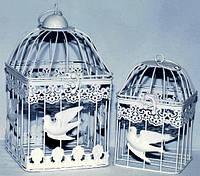 Клетка для птиц белая квадратная набор 2 шт