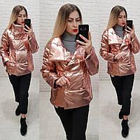 Женская демисезонная куртка (арт 1001) цвет бронза, фото 1