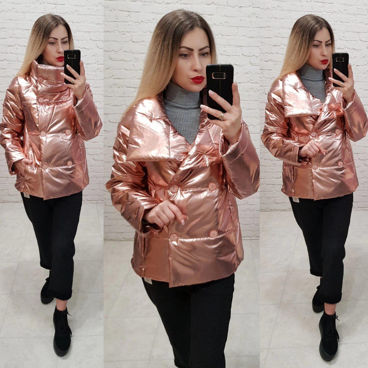 Женская демисезонная куртка (арт 1001) цвет бронза