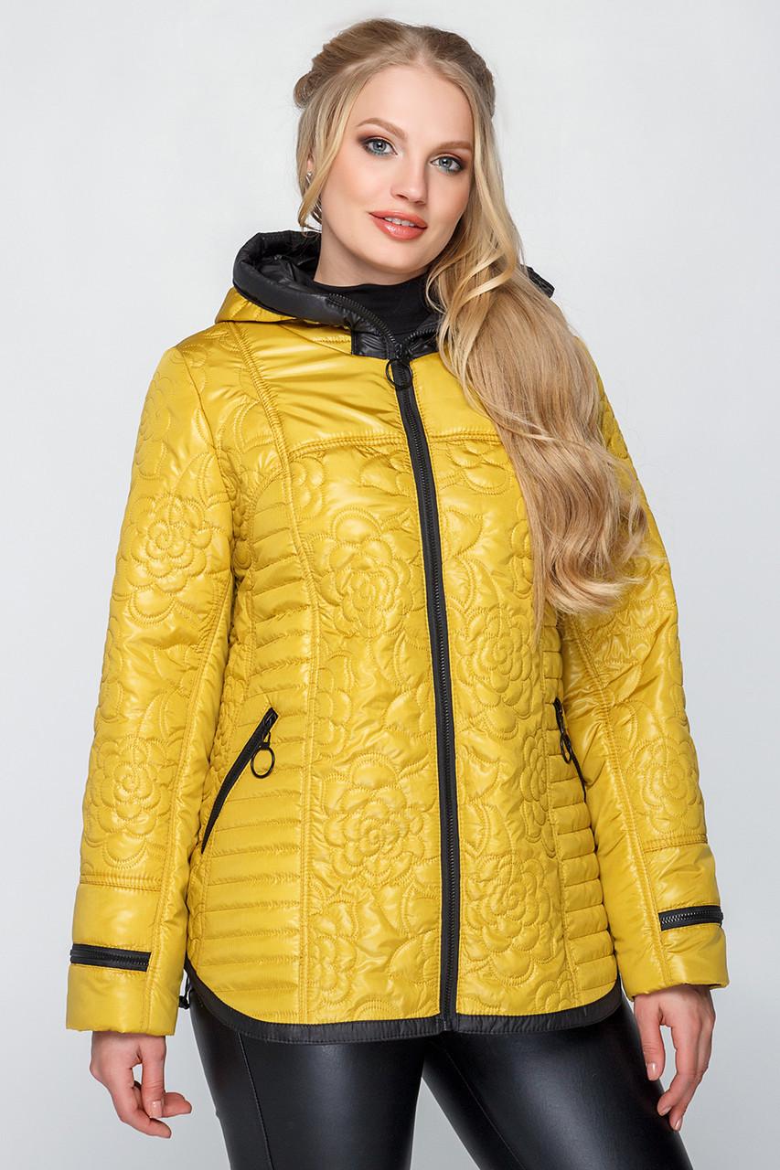 Куртка женская стеганая на весну с 50 по 60 размер