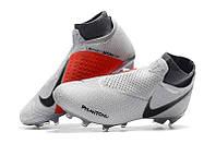 Футбольные бутсы Nike Phantom Vision Elite DF FG Pure Platinum/Black/Light Crimson/Dark Grey, фото 1