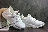Женские белые кроссовки в стиле FILA. Для спорта и повседневной носки