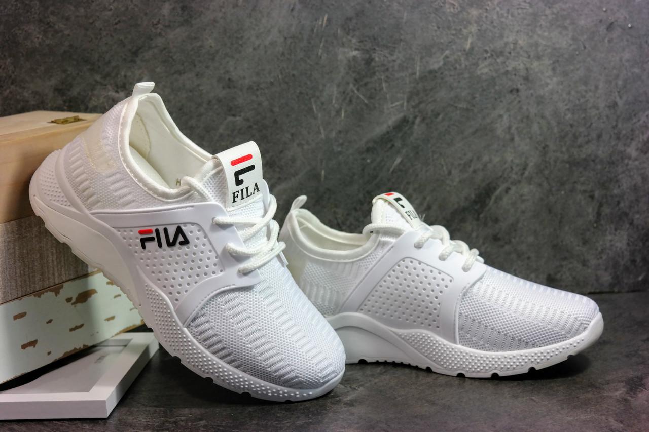 19e70f56 Женские белые кроссовки в стиле FILA. Для спорта и повседневной носки