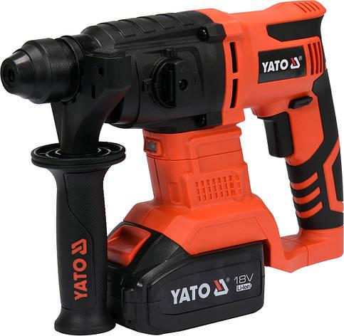 Перфоратор акумуляторний SDS+ YATO YT-82770, фото 2