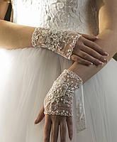 Свадебные перчатки-митенки 15-120